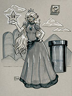 Princess Peach Original Art