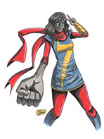 Ms Marvel Original Art